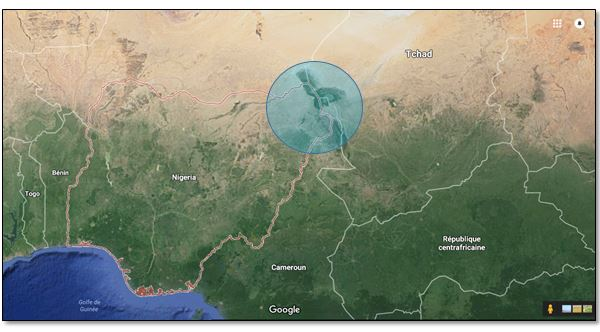 Zone approximative d'influence de Boko Haram